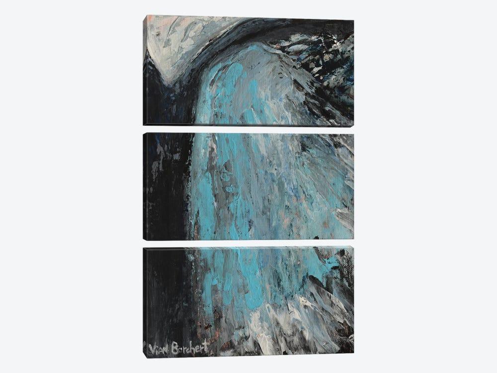 Blue And Gray by Vian Borchert 3-piece Canvas Art