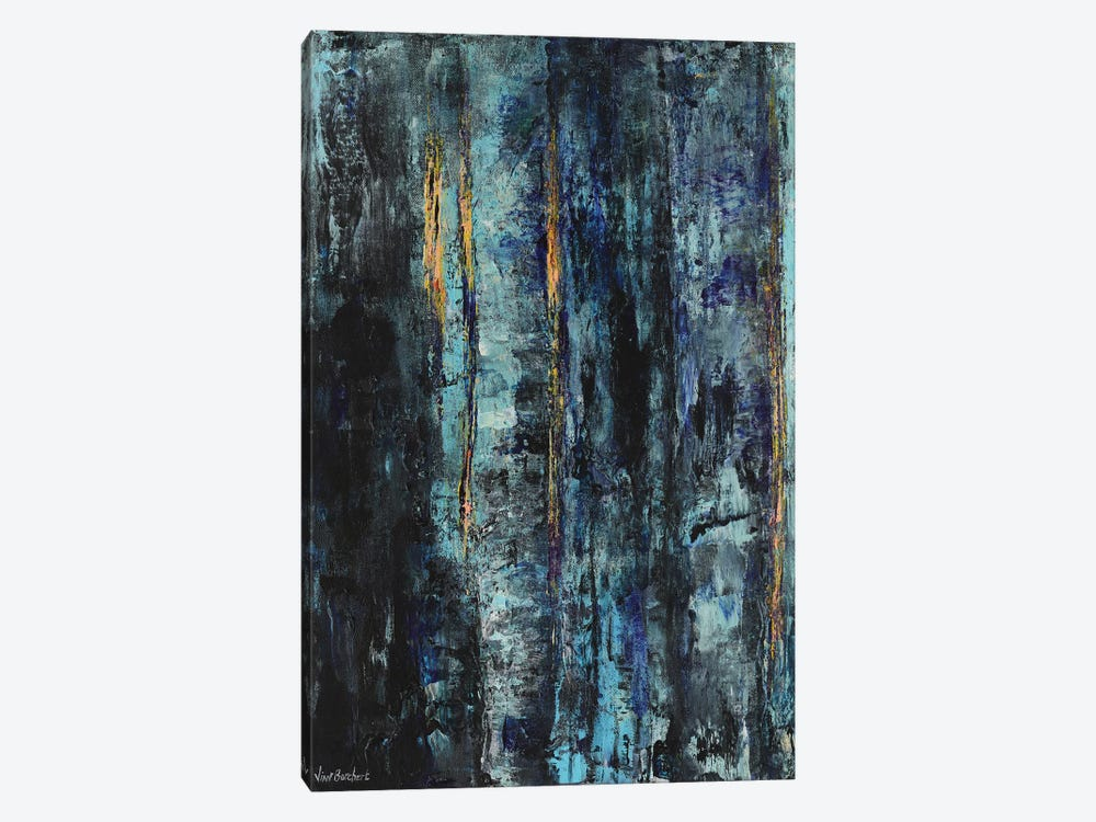 Blue Woods by Vian Borchert 1-piece Canvas Print