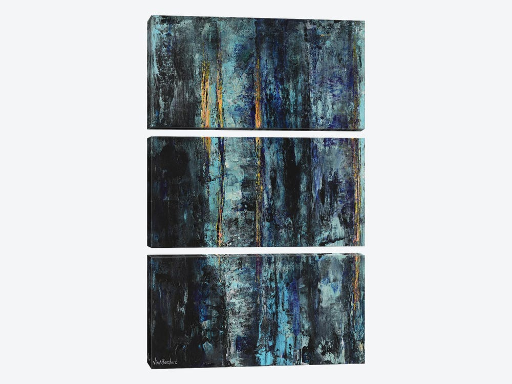 Blue Woods by Vian Borchert 3-piece Art Print