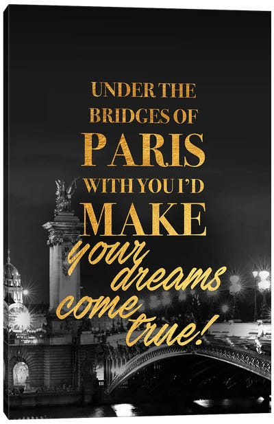 Bridges Of Paris Canvas Art Print