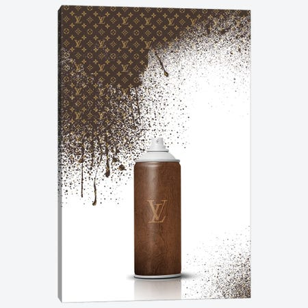 Spray LV Canvas Print #VNC10} by Alexandre Venancio Canvas Art