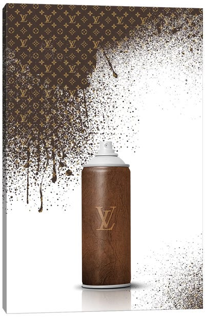 Spray LV Canvas Art Print
