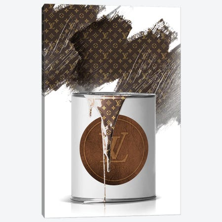 LV Paint Can Canvas Print #VNC116} by Alexandre Venancio Canvas Art Print