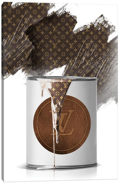 LV Paint Can Canvas Art Print