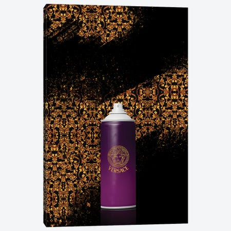 Spray Versace Canvas Print #VNC11} by Alexandre Venancio Canvas Artwork