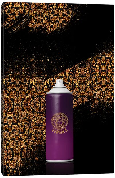 Spray Versace Canvas Art Print