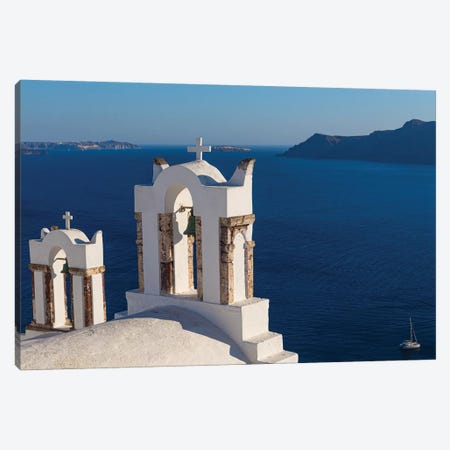 Santorini And The Chruch Canvas Print #VNC169} by Alexandre Venancio Art Print