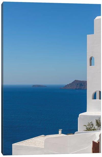 Santorini And The Mediterranean Canvas Art Print