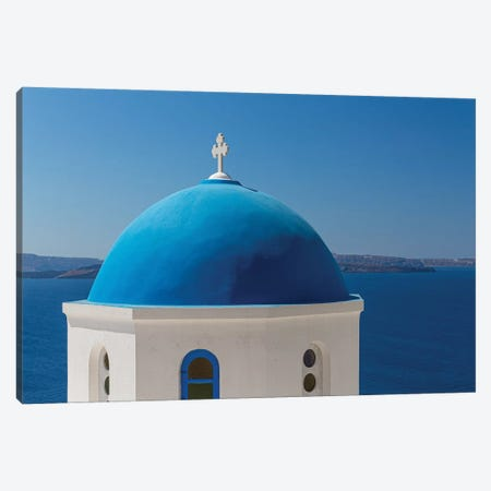 Santorini Church Canvas Print #VNC171} by Alexandre Venancio Canvas Wall Art