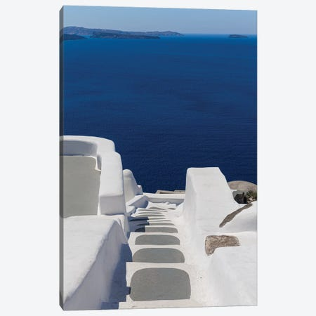 View From Santorini Canvas Print #VNC172} by Alexandre Venancio Canvas Art