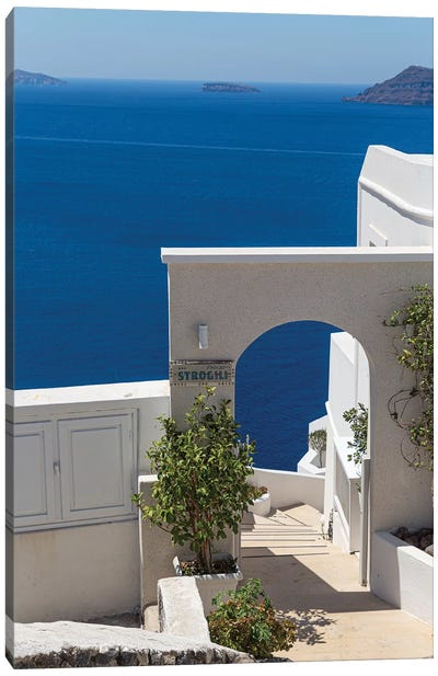 Blue In Santorini Canvas Art Print