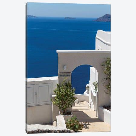 Blue In Santorini Canvas Print #VNC173} by Alexandre Venancio Canvas Artwork