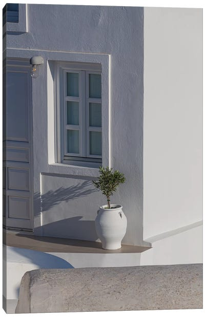 A Home In Santorini Canvas Art Print