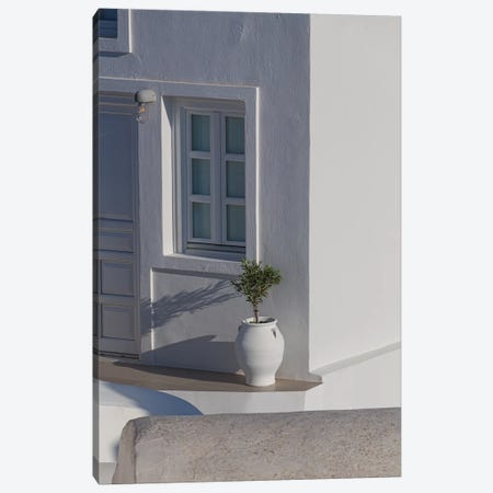 A Home In Santorini 3-Piece Canvas #VNC176} by Alexandre Venancio Canvas Art Print