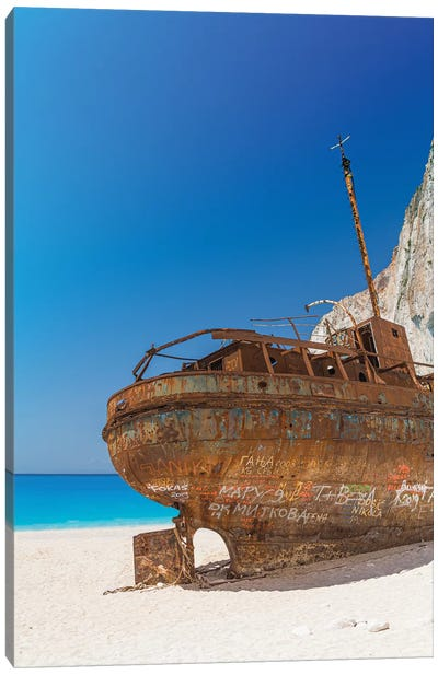 The Ship In Zakynthos Canvas Art Print