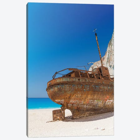 The Ship In Zakynthos Canvas Print #VNC180} by Alexandre Venancio Canvas Art Print