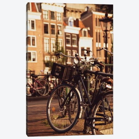 Bikes In Amsterdam Canvas Print #VNC185} by Alexandre Venancio Canvas Art