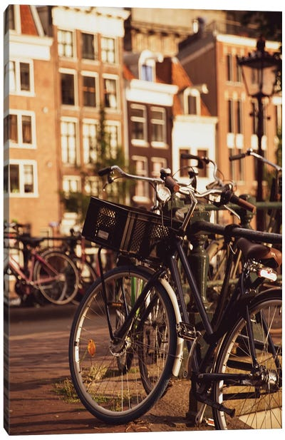 Bikes In Amsterdam Canvas Art Print