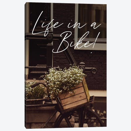 Life In A Bike Canvas Print #VNC189} by Alexandre Venancio Canvas Art Print