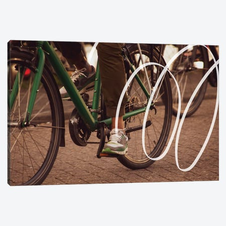 Biking Canvas Print #VNC194} by Alexandre Venancio Canvas Art Print