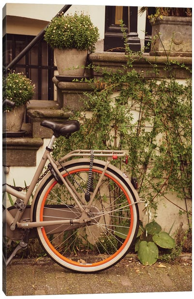 Bike In Ams Canvas Art Print