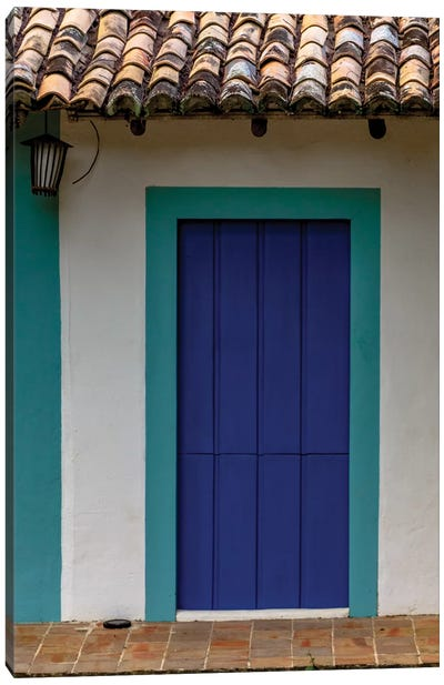 Bahia Blue Door Canvas Art Print
