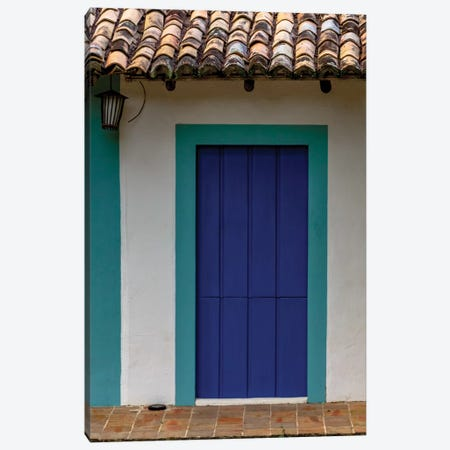 Bahia Blue Door Canvas Print #VNC209} by Alexandre Venancio Canvas Art