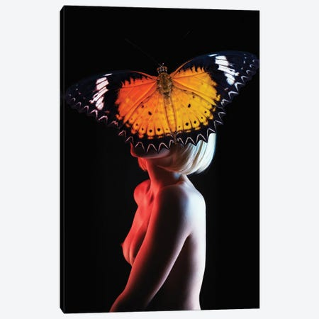 Woman In Butterfly Canvas Print #VNC216} by Alexandre Venancio Canvas Art