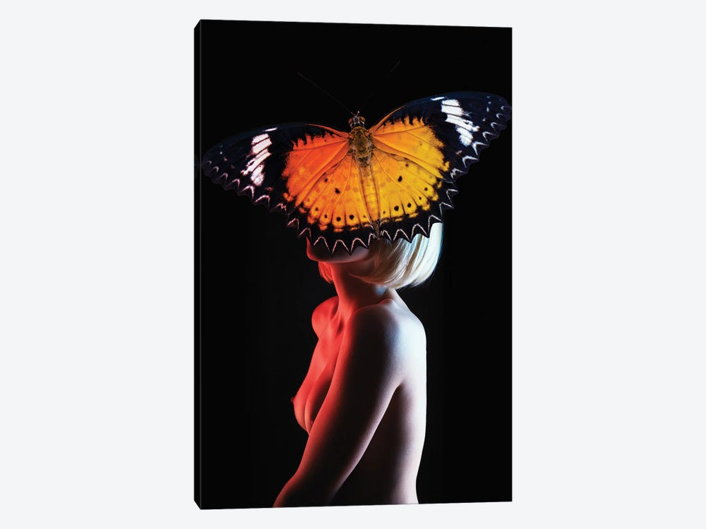 Woman In Butterfly by Alexandre Venancio 1-piece Canvas Print