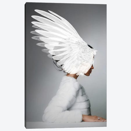 Woman And Wings Canvas Print #VNC220} by Alexandre Venancio Canvas Wall Art