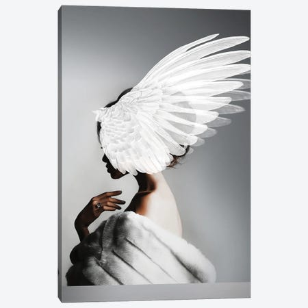 Woman And Wings II Canvas Print #VNC221} by Alexandre Venancio Canvas Art