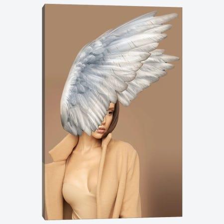Woman And Wings Beige Canvas Print #VNC222} by Alexandre Venancio Canvas Artwork