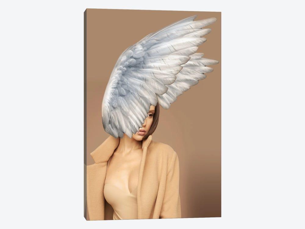 Woman And Wings Beige by Alexandre Venancio 1-piece Canvas Art