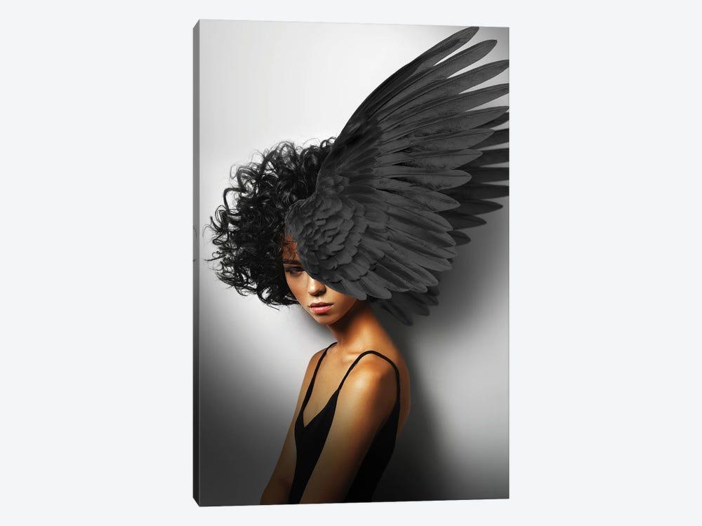 Woman And Wings Black II by Alexandre Venancio 1-piece Canvas Artwork