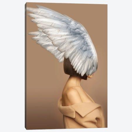 Woman And Wings Beige II Canvas Print #VNC225} by Alexandre Venancio Canvas Art Print