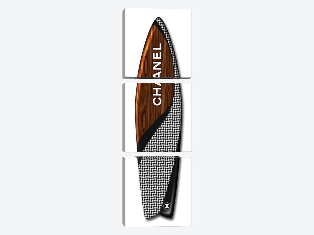 Surfboard Chanel by Alexandre Venancio 3-piece Art Print
