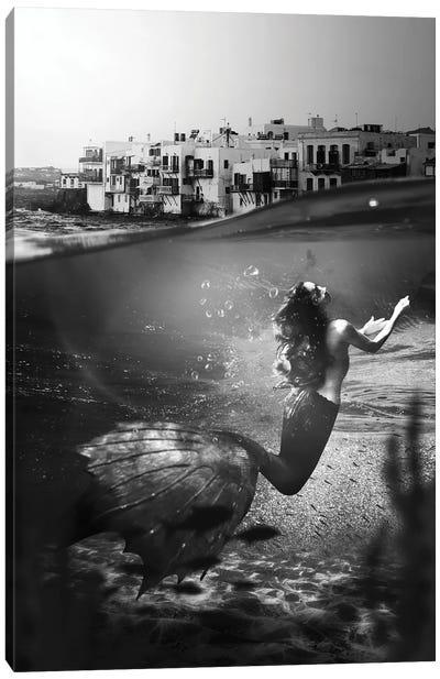 The Mermaid Of Mykonos Canvas Art Print