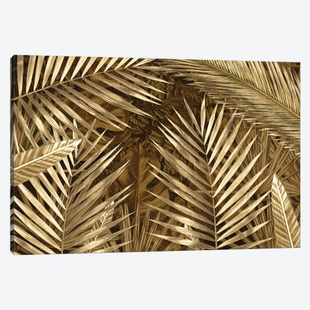 Golden Leaves Composition Canvas Print #VNC251} by Alexandre Venancio Art Print