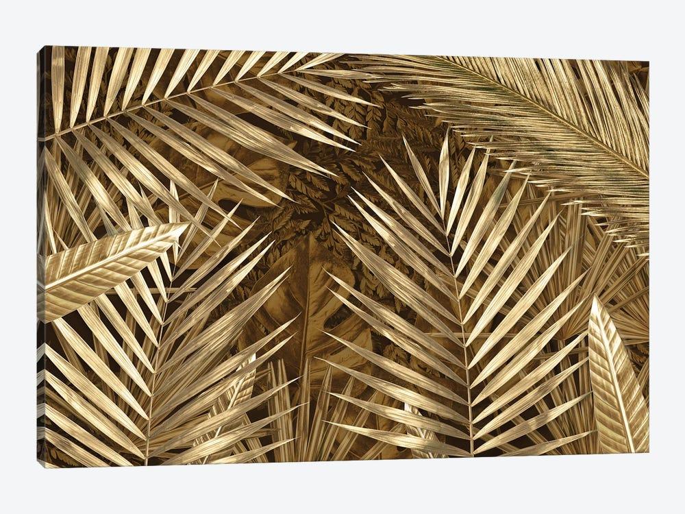 Golden Leaves Composition by Alexandre Venancio 1-piece Canvas Artwork