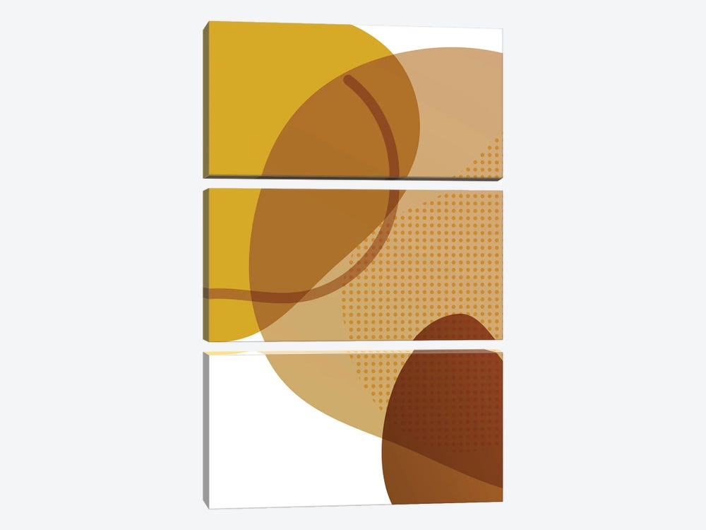 Graphic Composition II by Alexandre Venancio 3-piece Canvas Artwork