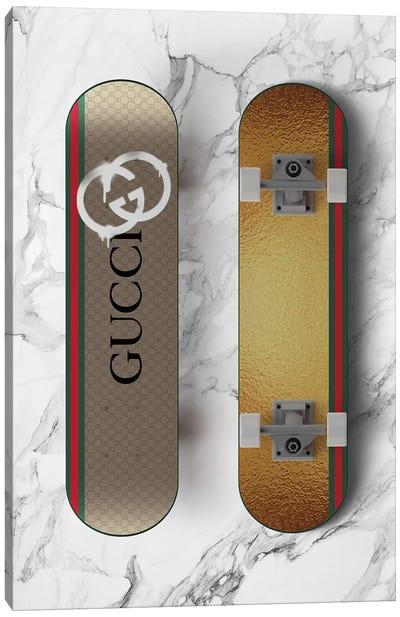 Gucci Skateboard Canvas Art Print