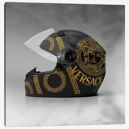 Versace Helmet Canvas Print #VNC263} by Alexandre Venancio Canvas Art