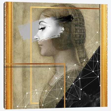 Desconstructed Masterpiece Davinci I Canvas Print #VNC274} by Alexandre Venancio Canvas Artwork