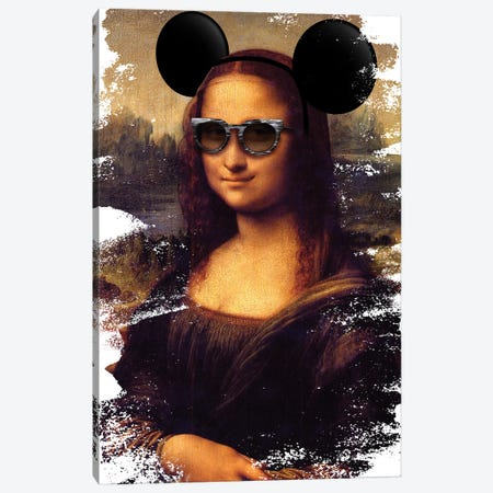 Desconstructed Masterpiece Mona Lisa Canvas Print #VNC277} by Alexandre Venancio Canvas Artwork