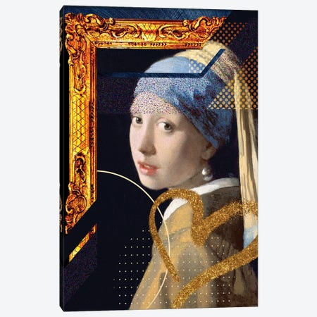 Desconstructed Masterpiece Vermeer Canvas Print #VNC279} by Alexandre Venancio Canvas Art Print