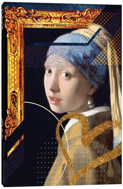 Desconstructed Masterpiece Vermeer Canvas Art Print
