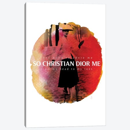 Christian Dior Me Canvas Print #VNC31} by Alexandre Venancio Canvas Artwork