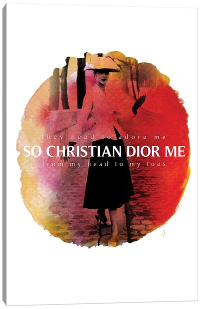 Christian Dior Me Canvas Art Print