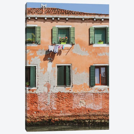 Venice Green Windows Canvas Print #VNC328} by Alexandre Venancio Canvas Print
