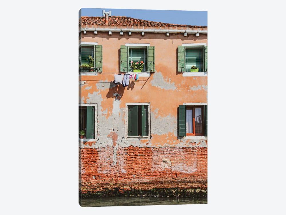 Venice Green Windows by Alexandre Venancio 1-piece Canvas Print
